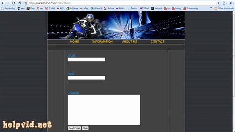 tutorial for creating website in php create a contact form page for your website php script