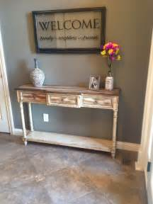 Table For Foyer Our Rustic Foyer Table Home Ideas Foyer Tables Foyers And The Wall