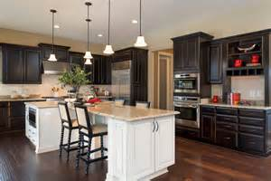 Rustic Red Kitchen Cabinets Chic Espresso Cabinets Convention Dc Metro Traditional