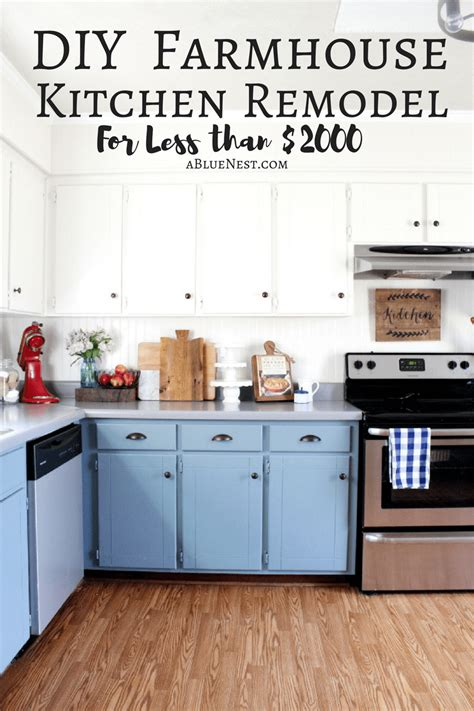 diy kitchen remodel on a budget diy farmhouse remodel on a budget a blue nest
