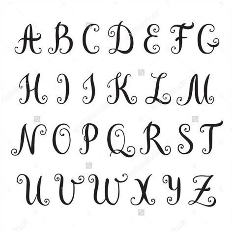 9 fancy alphabet letters free psd eps format download