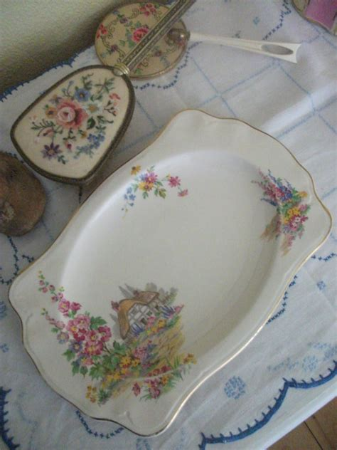 johnson brothers cottage pareek sandwich plate c 1930s by johnson brothers china