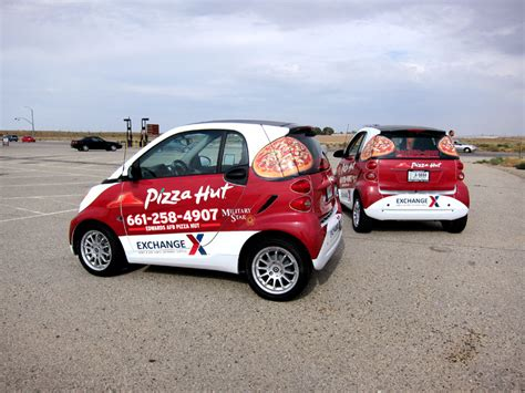 Pizza Auto by Pizza Hut Smart Car Wraps By Iconography Barstow Ca