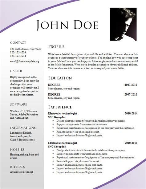 free cv templates word 2015 free resume templates 695 701 free cv template dot org
