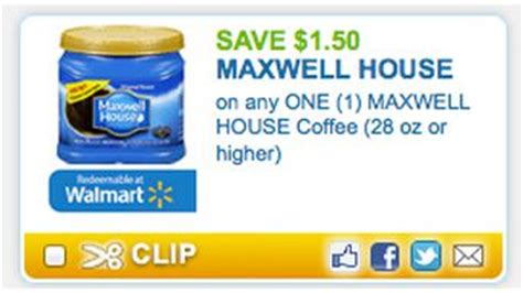 printable maxwell house coupons new 1 50 1 maxwell house coffee coupon become a coupon