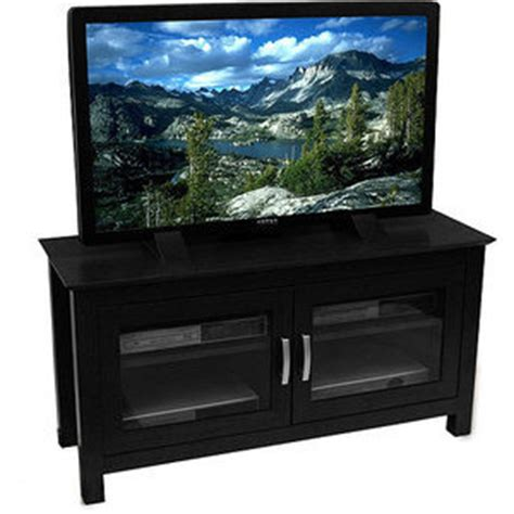 walmart black tv stand with doors for tvs up to 50