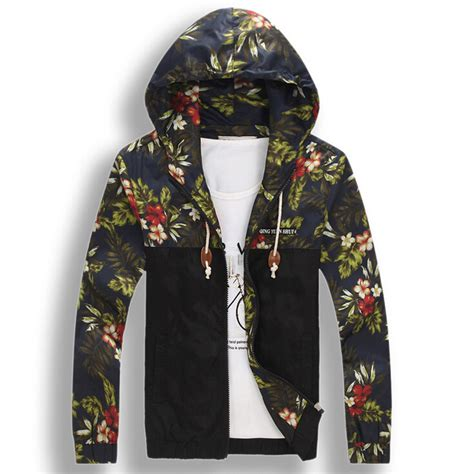 Jaket Sweater Flower Sweater Casual mens floral hoodie fashion ql