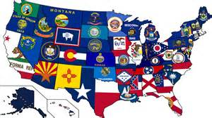 united states map with state flags dates of statehood state symbols usa