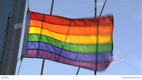 gay boat flags gay rainbow flag on sailing boat stock video footage 261541