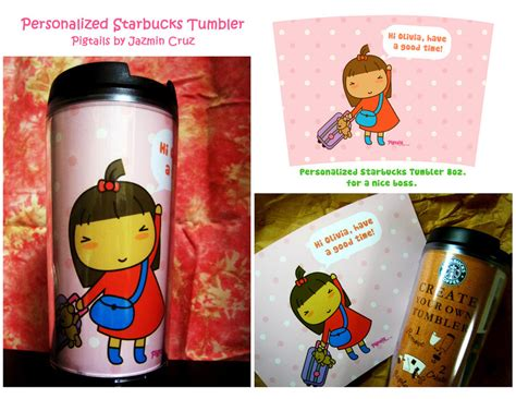 personalized starbucks tumbler by jazgirl on deviantart
