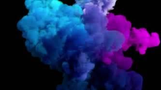 colored smoke fluid particles explosion motion alpha matte