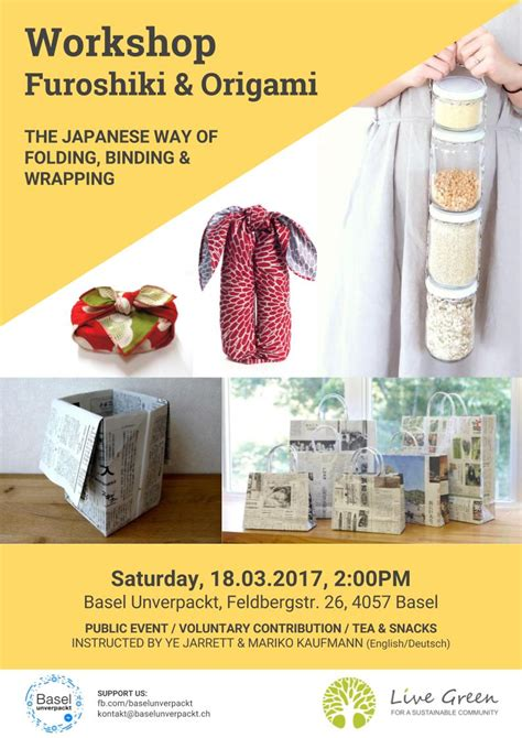 Origami Workshop - furoshiki und origami workshop the japanese way of