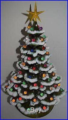 arnel ceramic christmas tree vtg 23 2pc arnels lighted musical ceramic tree bulbs 3 day sale
