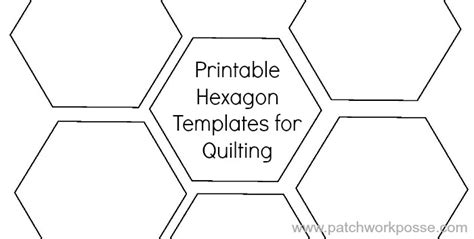 Hexagon Patchwork Templates - printable hexagon template for quilting pdf