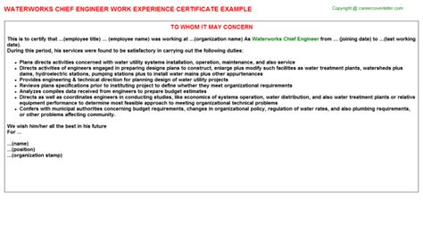 chief design engineer job description experience certificate sle for microbiologist gallery