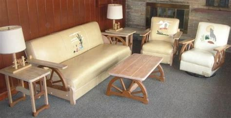 wagon wheel couch 22 best images about ranch oak furniture on pinterest