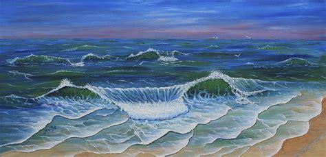 Duvet Cover Tutorial Ocean Waves Dance At Dawn Original Acrylic Painting