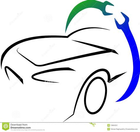 Garage Workshop Design workshop logo stock image image 13864251