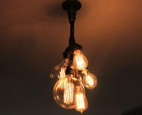 Lightbulb Chandelier Industrial Chandelier Ceiling Light Edison Bulb Cluster