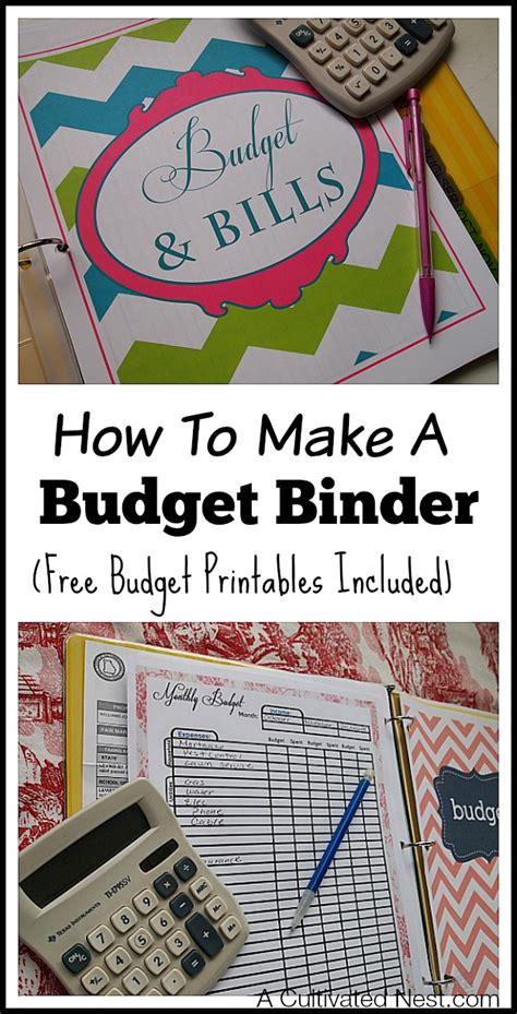 how to make a home budget plan how to make a budget binder