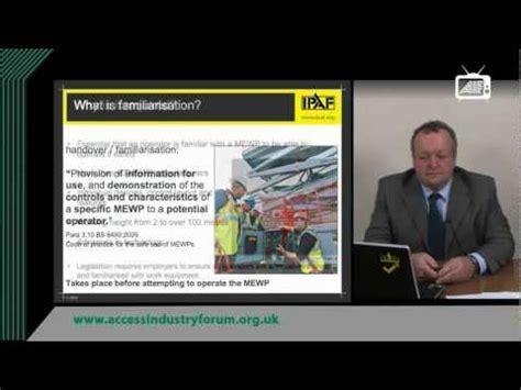 mewp safety toolbox talks ipaf mewp familiarisation toolbox talk youtube