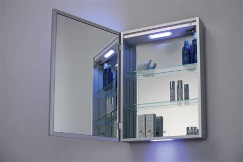 anti mist bathroom mirror bathroom cabinet led mirror anti fog v c rigel ebay