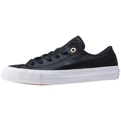 Sepatusneaker Converse Chuck Ii White Ox converse chuck all ii ox womens trainers in black white