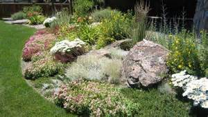 Landscape Ideas Mounds Rock Garden Plantings Berm