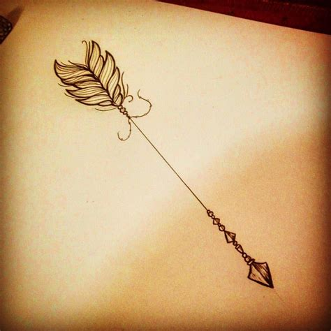 feminine arrow tattoo if i make it to the end of the summer ideas