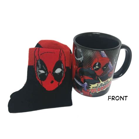 Mug Keramik Ceramic Marvel Original deadpool mug sock set ceramic cotton boxed gift marvel