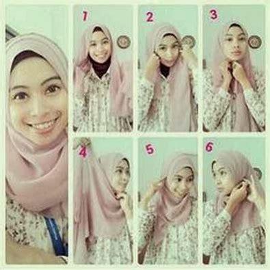 tutorial foto berhijab cara memakai jilbab kreasi jilbab paris untuk ke pesta