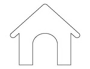 House Outline Template by House Pattern Use The Printable Outline For Crafts