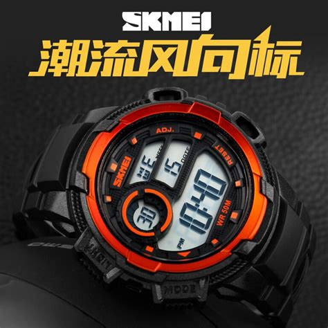 Jam Tangan Digital Pria Skmei Waterproof Anti Air 1203 Abu Abu skmei jam tangan sporty digital pria dg1113 black white jakartanotebook