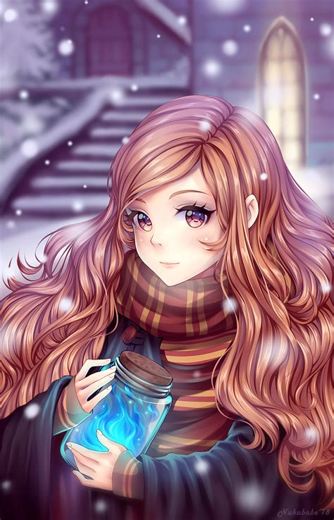 fanart anime hermione granger harry potter fanart by nukababe on