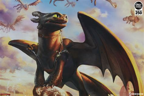the dragon the toothless the dragons of berk art print by sideshow collectibles collector verse
