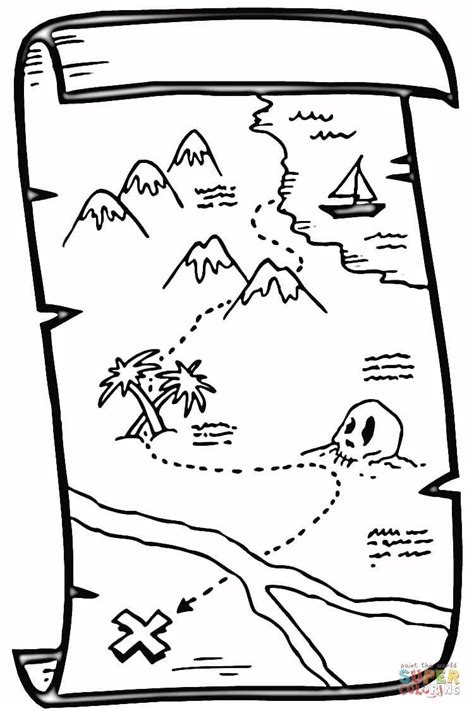 map coloring pages treasure map coloring coloring