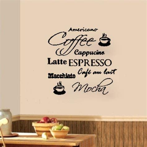 Hiasan Dinding Untuk Cafe Restoran Coffee coffee cafe cappucino latte mocha wall decals vinyl