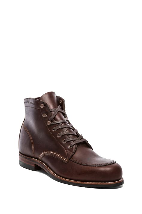wolverine 1000 mile boot wolverine 1000 mile courtland boot in brown for lyst