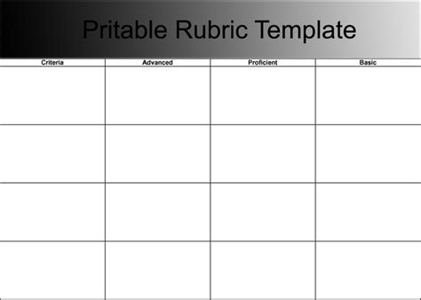 rubric template word rubric for business letter search results calendar 2015