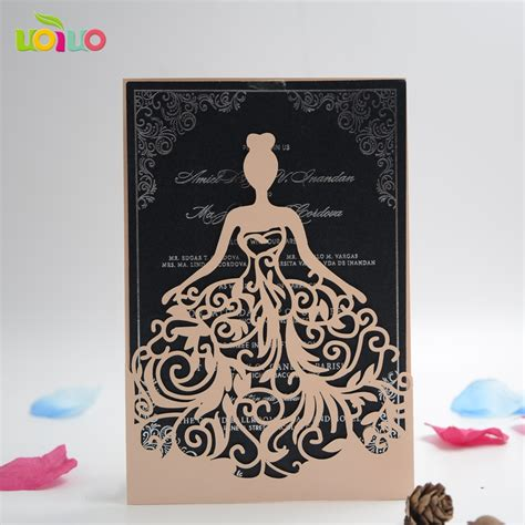 sle of wedding invitation card best sale laser cut wedding invitation card quinceanera sweet 15 invitation card with