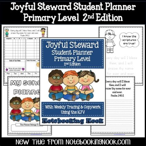 planning book for 2nd edition a notebook for budding youtubers and vloggers books new title joyful steward student planner primary lever