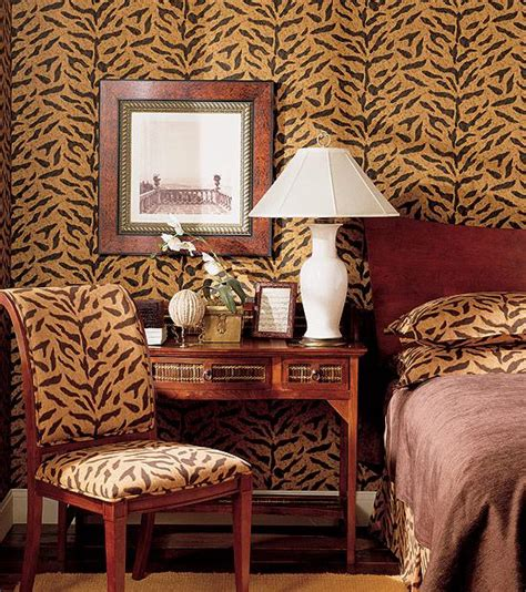 leopard print wallpaper for bedroom a touch of thibaut a dash and more of animal prints