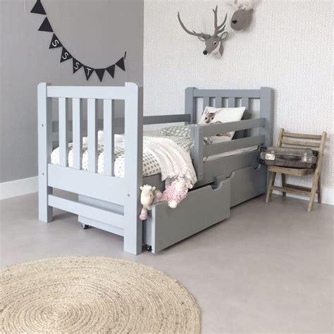 kinder futon peuterbed grijs voor jongens en meiden kinderbed biz