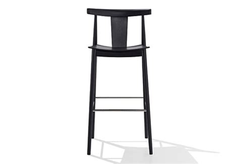 Bar Stool With Backrest Smile Bar Stool With Backrest By Andreu World Stylepark