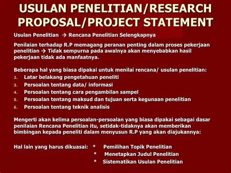 format proposal biasa metode metode penelitian
