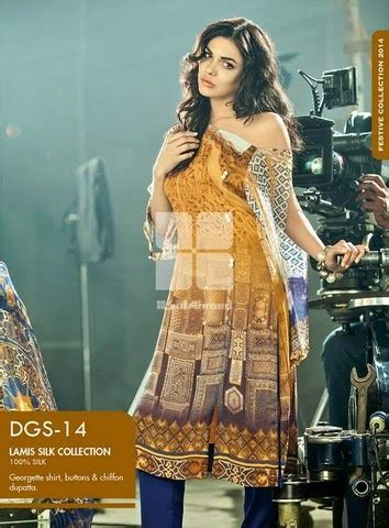 Abstrak Lamiz gul ahmed lamis digital silk eid collection 2014 fashion