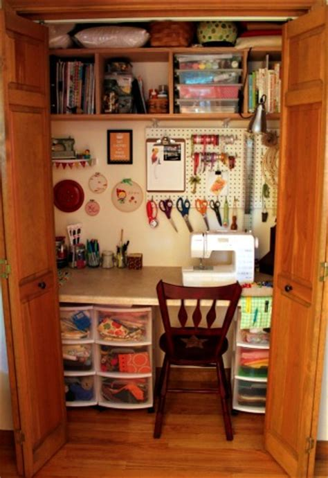 Craft Room Ideas For Small Spaces Craft Closet