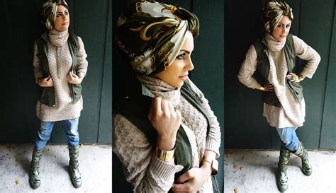 Riany Dress Muslim rainy day or brisk fall afternoon i am in with the printed turban style
