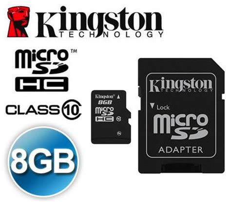 Micro Sd 8gb Class 10 kingston class 10 micro sd hc tf 8gb m end 8 1 2017