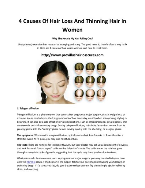 the causes of thinning hair in women 4 causes of hair loss and thinning hair in women